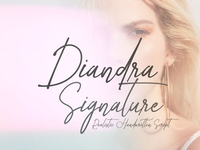 diandra signature font 01