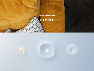 camera button shadow camera visual design wallpaper design ui 3d