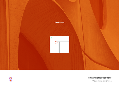 Smart Home Products desk lamp smart graphics icon ui design