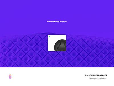 Smart Home Products gui washing machine drum washing machine home graphics design icon ui smart
