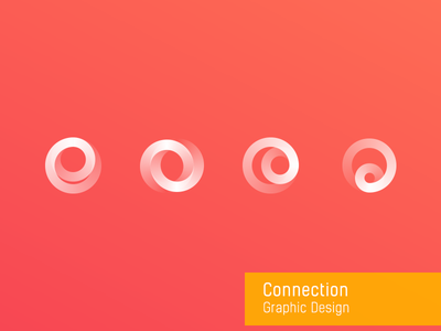 Connection round graphic design connection