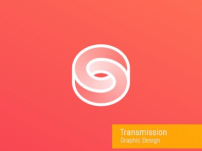 Transmission graphic design connection round transmission
