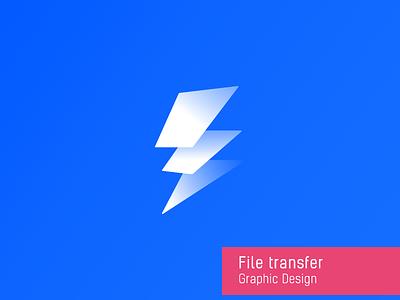 File Transfer lightning file white transfer icon