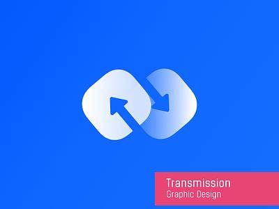 Transmission design arrow transmission white icon