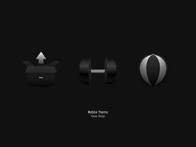 Mobile Theme — Black black icon theme design box dumbbell balloon upgrade