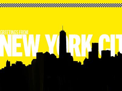 NYC postcard poster postcard weekly warmup