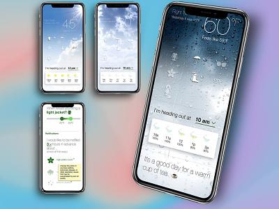 weather app mockup minimalist ux design icons weather app app design ui