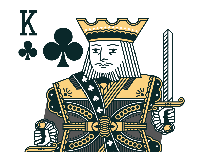 King of Clubs king clubs deck sword court cards face cards playing cards