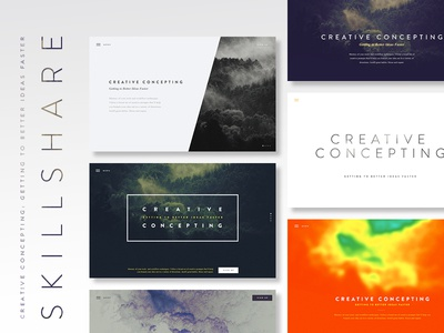 Skillshare class: Creative Concepting tutorial website ui skillshare