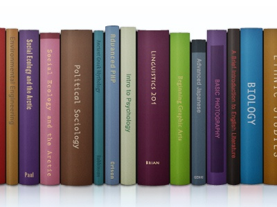 Books header clean colorful books illustration photoshop