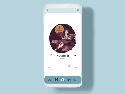 Daily UI 009 - Music Player daily ui 009 mobile ui mobile design android app daily ui dailyui daily ui challenge