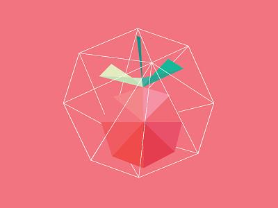 Strawberry Shape Icon icon illustration strawberry fruit flat shapes wire lab net pink