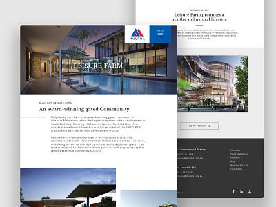 Investment Company Website Design hospitality investment real estate desktop website design