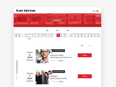 Theatre Website Design desktop play calendar program theatre cabaret