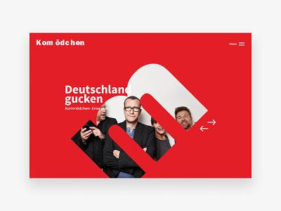Theatre Website Design - Header desktop hamburger hero slider mask fullwidth header homepage