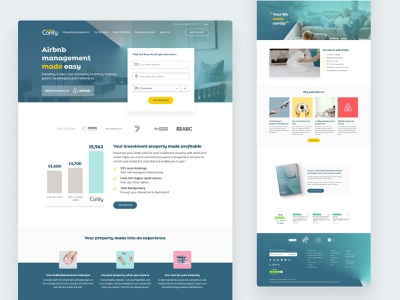 Homepage Design sections images investment holiday real estate desktop website homepage design
