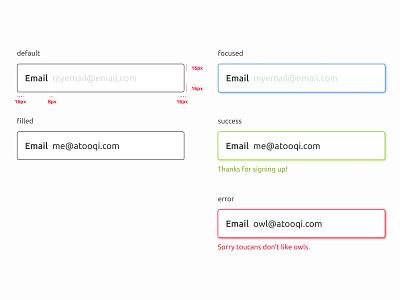 UI Elements - Text Input user interface design system validation text input input ui elements