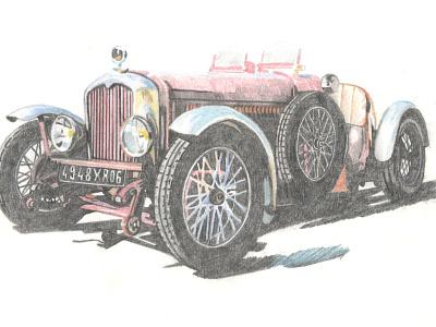Jaguar SS illustration