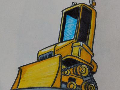 Belt bulldozer