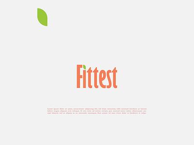 Fittest Logo brand identity design typography leaf green organic logo minimalist logo logo design logo nutrition professional logo brand identity branding food logo fittest
