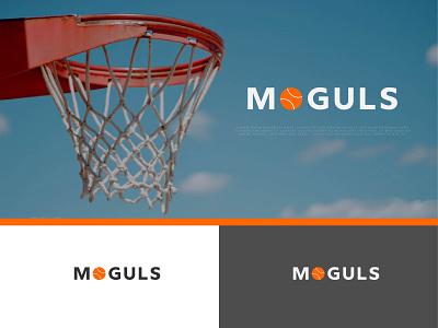 Moguls Logo design minimal design play sports logo sports logo professional logo typography moguls logo creation logodesign brand identity minimalist logo branding bastketball