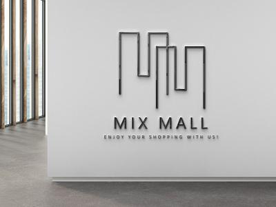 logo design mix mall minimal flat design branding logo mark logotype logo design logo