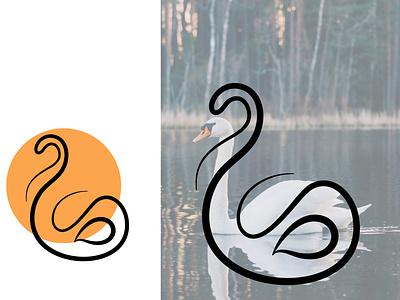 SWAN LOGO CONCEPT DESIGN vector logochallenge logoconcept design icon minimal logo mark logotype logo design logo branding
