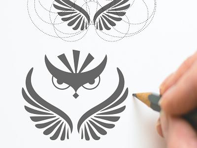 owl logo illustration art illustrator logodaily logomaker graphics graphicdesign brand design vector flat minimal logoconcept design logo mark logo logotype branding graphic