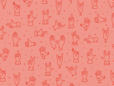 Hands thumbs up wutang illustration icon line turkey spock hands hand gesture pattern