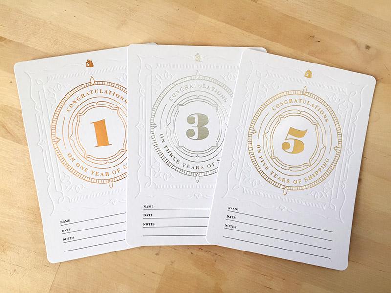 Anniversary Cards deboss anniversary foil letterpress