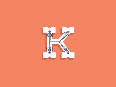 CBT / type fight typography dropcap k