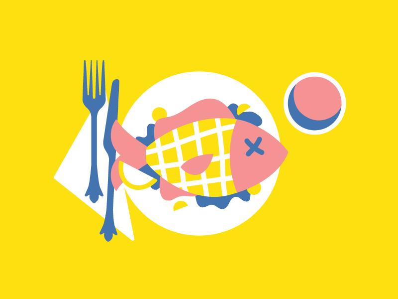 CBT / fish food plate dinner fish