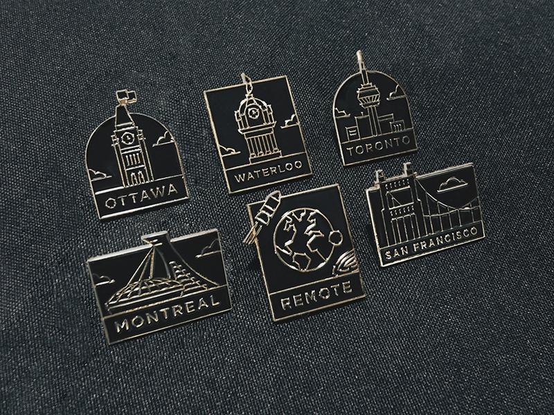City Pins montreal san francisco toronto ottawa city pin enamel shopify