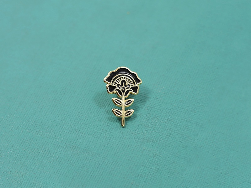 Flower Pin illustration enamel pin flower lapel pin enamel