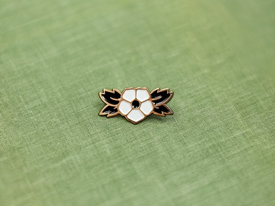 Anemone Pin pin ottawa lapel flower enamel pin