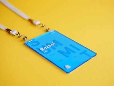 Shopify Summit Name Badges conference name badge acrylic