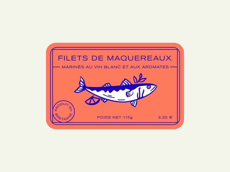 Filets de maquereaux packaging can mackerel fish