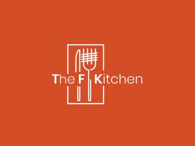 THE F KITCHEN illistrator design branding design branding and identity vector minimal logo flat branding