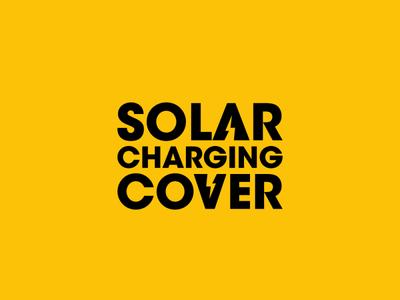 SOLAR CHARGING COVER illistrator design branding design branding and identity vector minimal logo flat branding