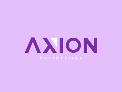 AXION illistrator design branding design branding and identity vector minimal logo flat branding