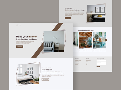 DDHouse - Landing page interior ui web website web design ui design landing page interface