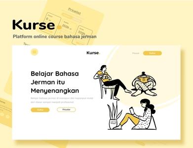 """UI Design Website Homepage """"Kurse"""" web illustration ui"""