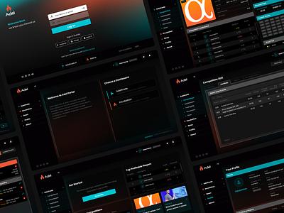 AdelTrade branding gaming interface trading ui  ux
