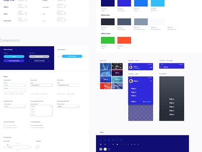 Design System Sample ux ui mobile app design design system