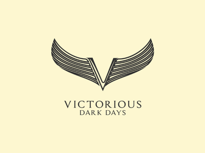 Victorious letter logo winged victorious logo v wings wing