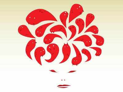 Medusa medusa red snakes on a lady