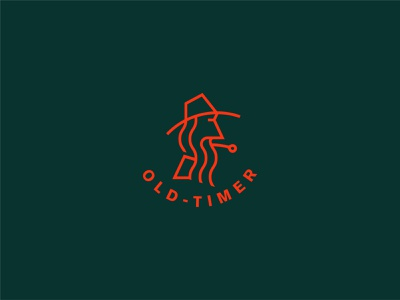 Old-Timer thick lines line identity logodesign old-timer icon vector branding design graphic design logo