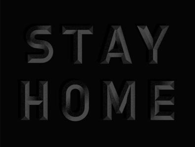 Stay Home coronavirus dark typogaphy type vector design illustration graphic design stay home