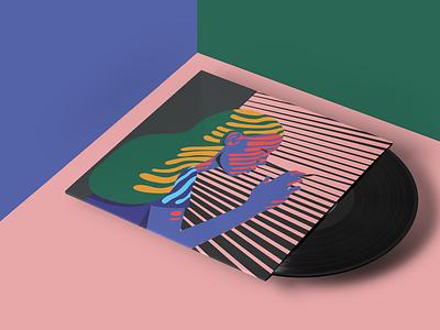 "Secret 7"" Vinyl Sleeve art exhibition vector art vector illustration music art music vinyl art art help london grammar secret 7 cover art"