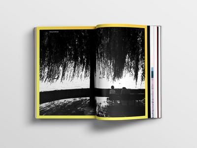 Inside spread of Schweiz picture-book print publication swiss style swiss switzerland graphic design photography